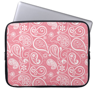 Blush Pink Paisley Floral Computer Sleeve