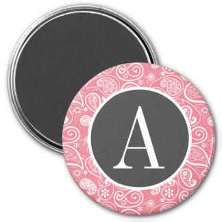 Blush Pink Paisley Floral Refrigerator Magnet