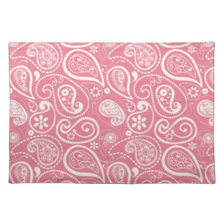 Blush Pink Paisley; Floral Placemats