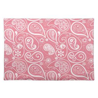 Blush Pink Paisley; Floral Placemat