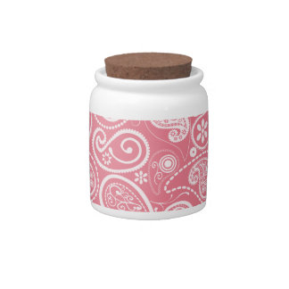 Blush Pink Paisley Floral Candy Dishes