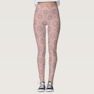 Blush Pink Pattern Leggings