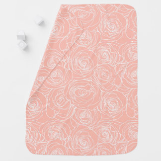 Blush Pink Rose Baby Blanket