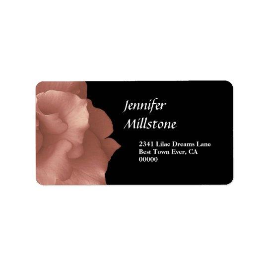 Blush Pink Rose Floral Wedding Collection Address Label