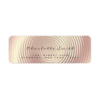 Blush Pink Rose Glitter RSVP Return Address Silk Return Address Label
