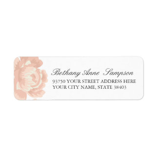 Blush Pink Rose Return Address Labels