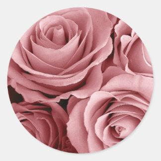 BLUSH PINK Roses - Wedding Envelope Seal Classic Round Sticker