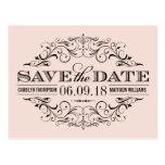 Blush Pink Save the Date | Swirl and Flourish