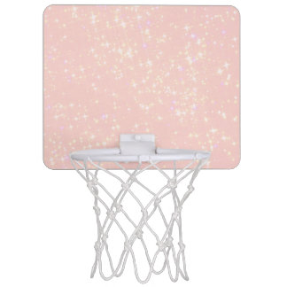 Blush Pink Shimmer - Add Text, Monogram as desired Mini Basketball Hoop