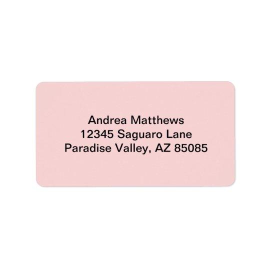 Blush Pink Solid Colour Label