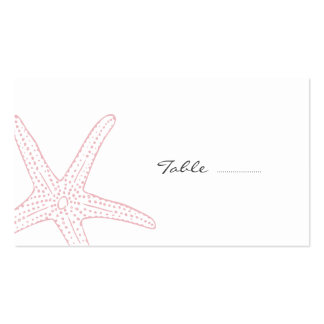 Blush Pink Starfish Pack Of Standard Business Cards
