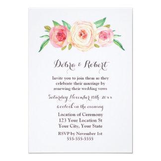 Blush Pink Vow Renewal Invitation