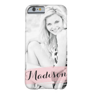 Blush Pink Watercolor Custom Photo Personalised Barely There iPhone 6 Case