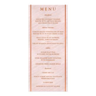 Blush Pink Watercolor Monogram Wedding Menu 10 Cm X 23 Cm Rack Card