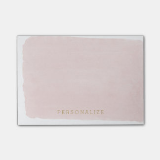 Blush Pink Watercolor Post-it Notes
