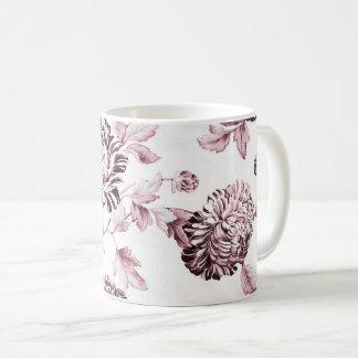 Blush Pink & White Vintage Floral Toile No.2 Coffee Mug