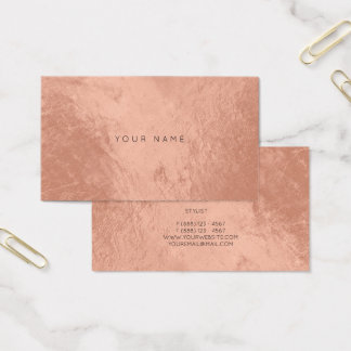 Blush Rose Copper Metallic Appointment Card Vip