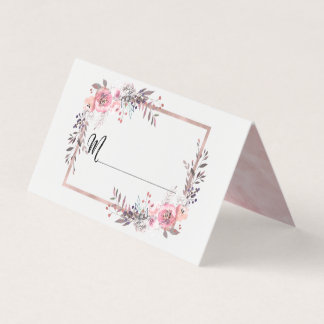 Blush & Rose Gold Framed Table Number Seating Name Place Card