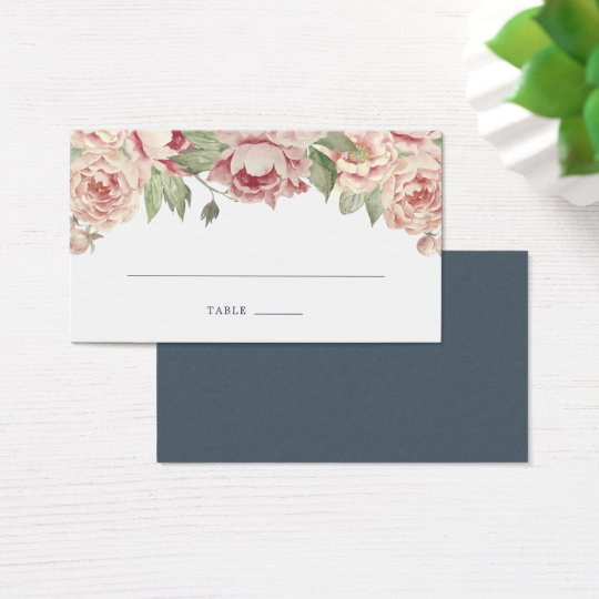 Blush Rose Seating Cards