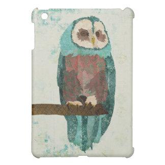 Blush Snow Owl iPad Mini Cover