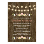 Blush String of Lights Fall Rustic Baby Shower 13 Cm X 18 Cm Invitation Card