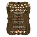 Blush String of Lights Rustic Sweet 16 13 Cm X 18 Cm Invitation Card