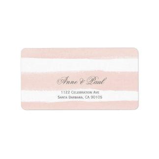 Blush stripes Address Labels