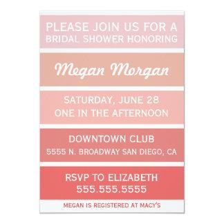 Blush to Cayenne Bridal Shower Invitation