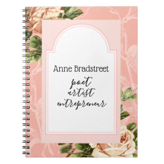 Blush Vintage Rose Journaling Notebook
