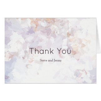 Blush Watercolor Anemones Thank You Card