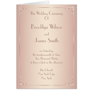 Blush Wedding Programs Vintage