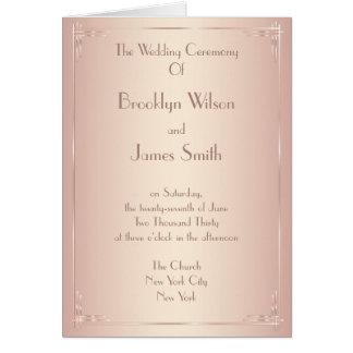 Blush Wedding Programs Vintage Greeting Card