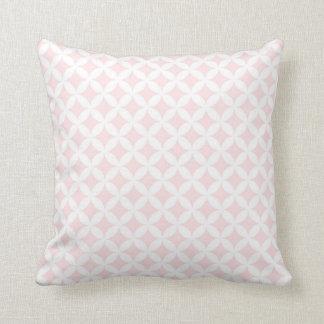 Blush White Circles Pattern Decorative Pillow Cushion