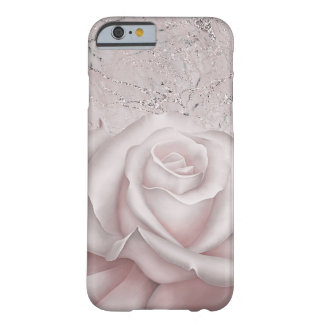 Blush White Rose Glam Modern Marble Shabby Chic Barely There iPhone 6 Case