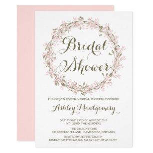 Bridal shower invitations zazzle blush winter wreath bridal shower invitation filmwisefo