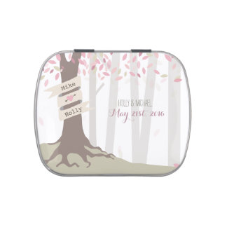 Blush Woodland Wedding Jelly Belly Tin