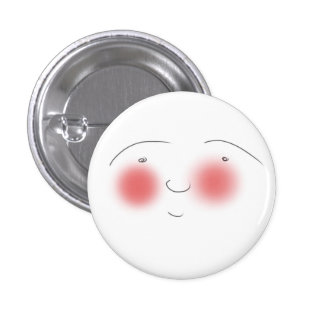 Blushes the Smiley 3 Cm Round Badge