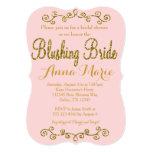 Blushing Bride Blush Pink Bridal Shower invitation