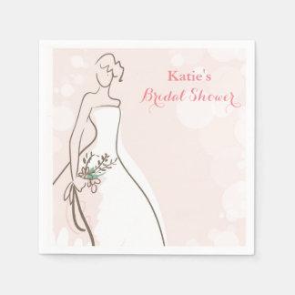 Blushing Bride Disposable Serviette