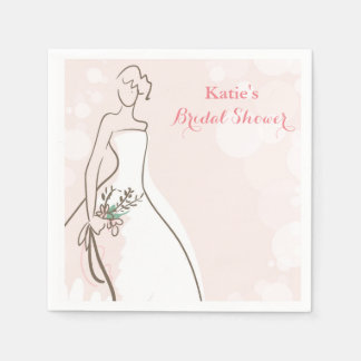 Blushing Bride Disposable Serviettes