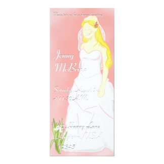 "Blushing Bride Invitation 4"" X 9.25"" Invitation Card"