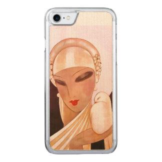 Blushing Bride Vintage Art Deco Illustration Carved iPhone 7 Case