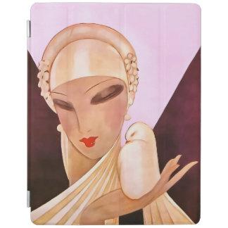 Blushing Bride Vintage Art Deco Illustration iPad Cover