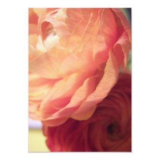 "Blushing Flowers 5"" X 7"" Invitation Card"