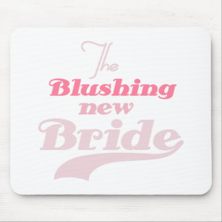 Blushing New Bride Mouse Pad
