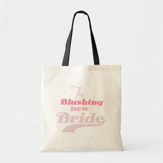 Blushing New Bride T-shirts and Gifts Tote Bag