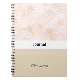 Blushing Pink and Taupe Journal