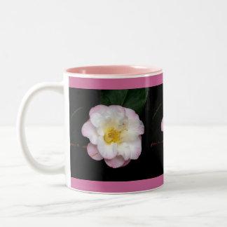 Blushing Pink Camellia Two-Tone Mug