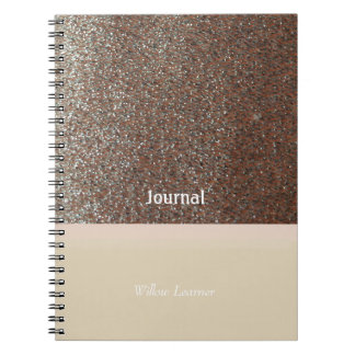 Blushing Pink Faux Glitter Journal