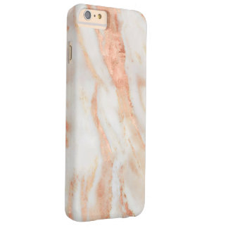 Blushing Rose Feminine Marble Pattern Barely There iPhone 6 Plus Case